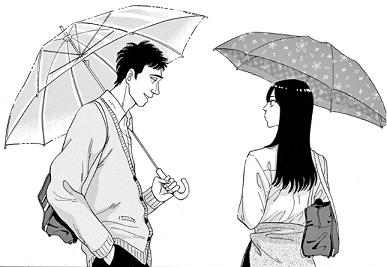 恋は雨上がりのように1話 橘あきらと近藤正己